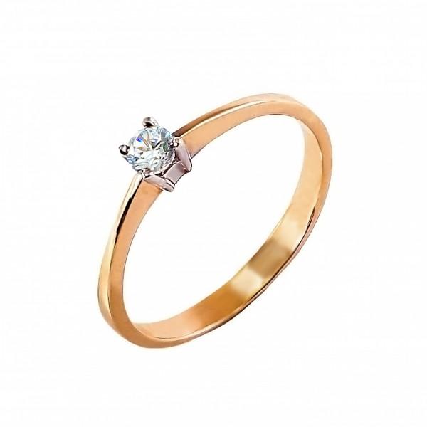 Кольцо золотое с бриллиантом 3К014д