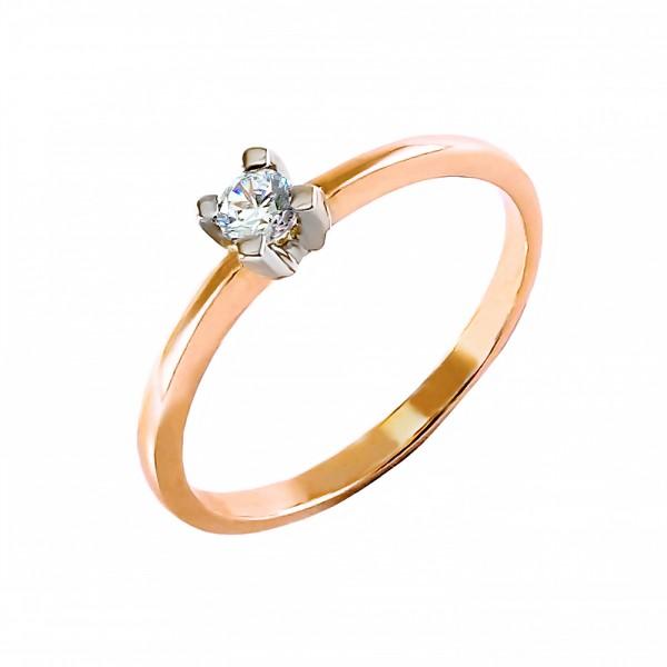 Кольцо золотое с бриллиантом 3К042д