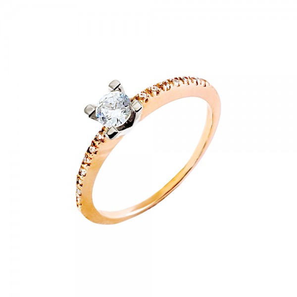 Кольцо золотое с бриллиантом 3К057д