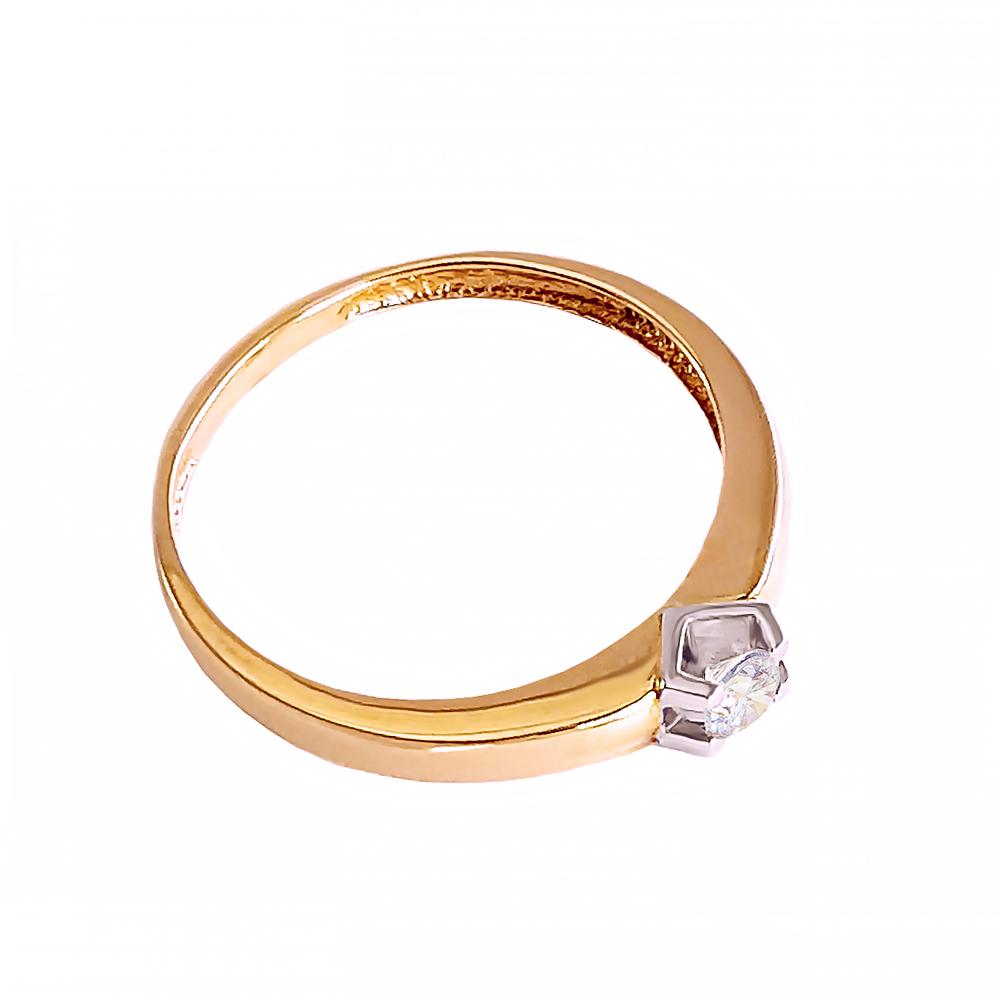Кольцо золотое с бриллиантом 3К066/1Д