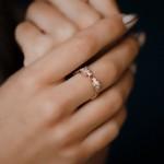 Кольцо золотое с фианитами Пантеры 1А3/0599