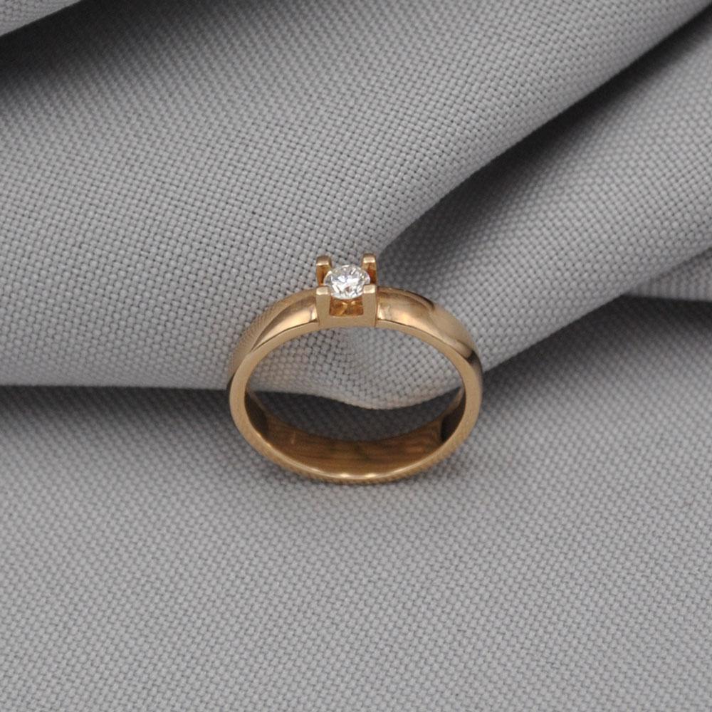 Кольцо золотое с бриллиантом 3К085Д