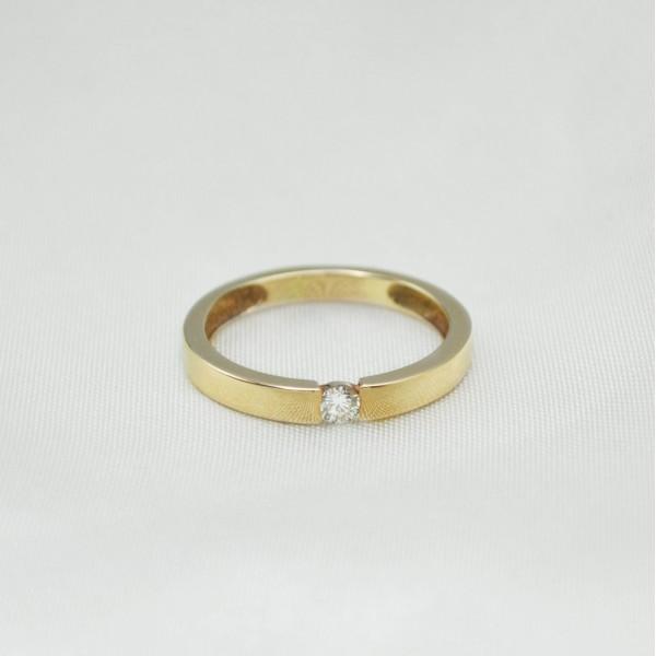 Кольцо золотое с бриллиантом 3К114Д