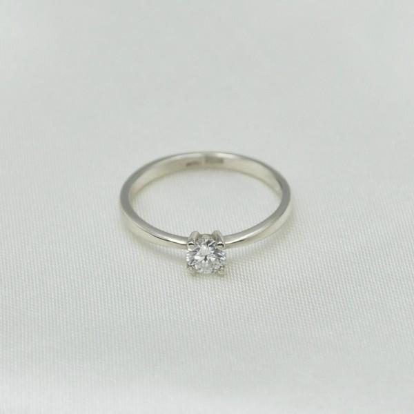 Кольцо золотое с бриллиантом 3К116-45Дб