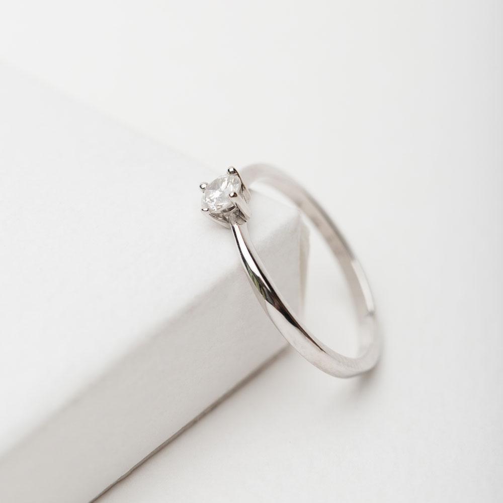 Кольцо золотое с бриллиантом 3К116-35Дб