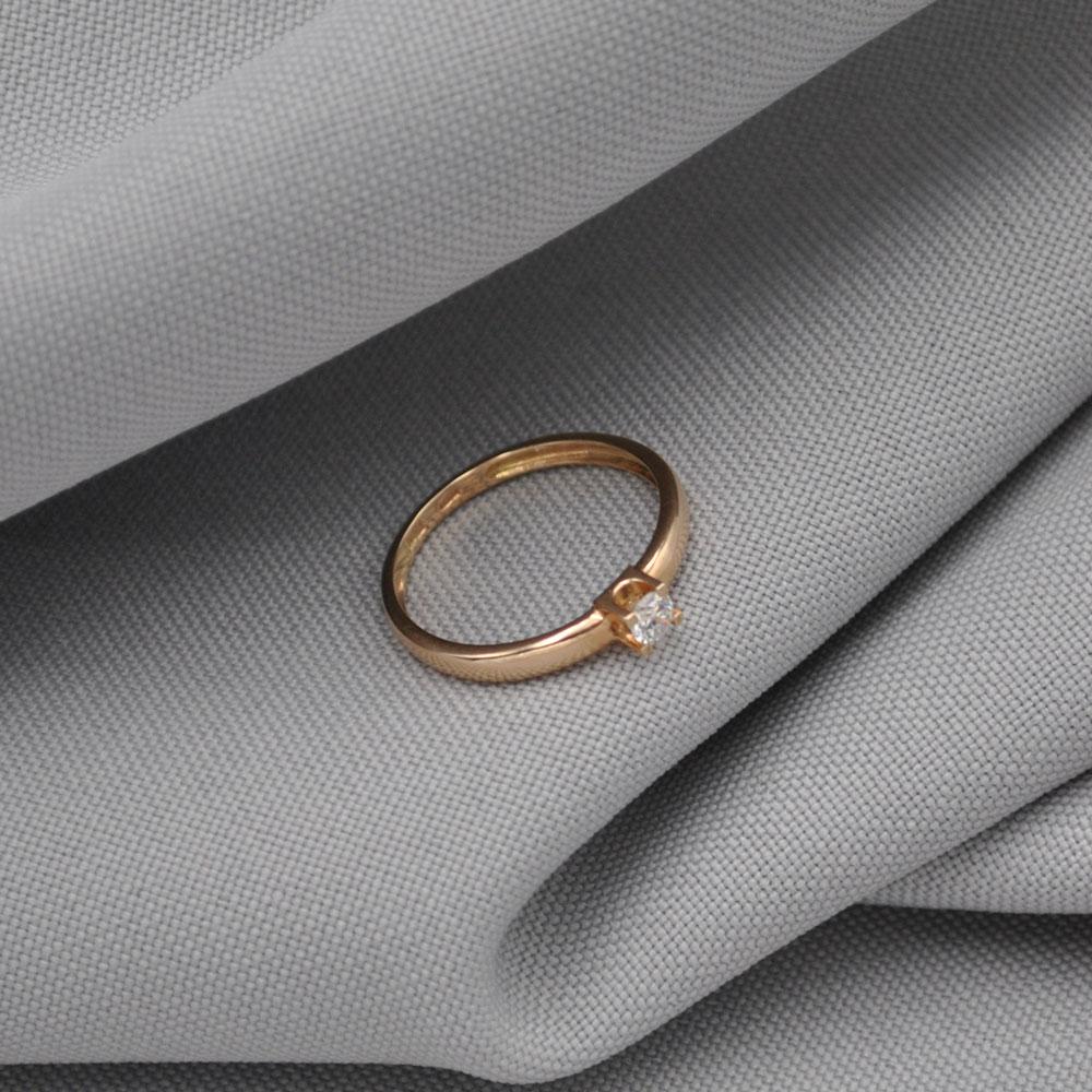Кольцо золотое с бриллиантом 3К134Д