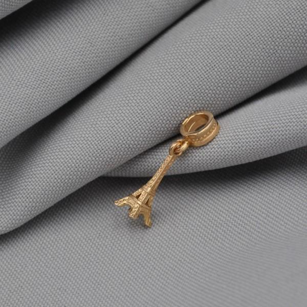 Подвеска-шарм золотая Эйфелева башня 1ПП010