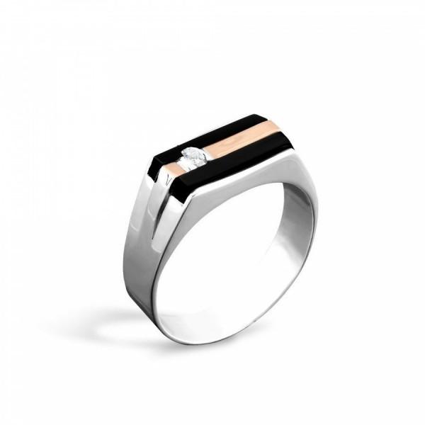 Кольцо серебряное с фианитом 2_233Кч