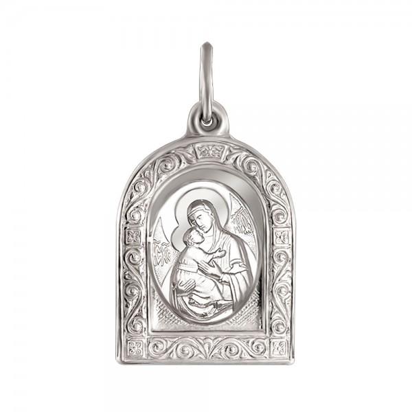 Ладанка серебряная Матерь Божия Владимирская 120294С