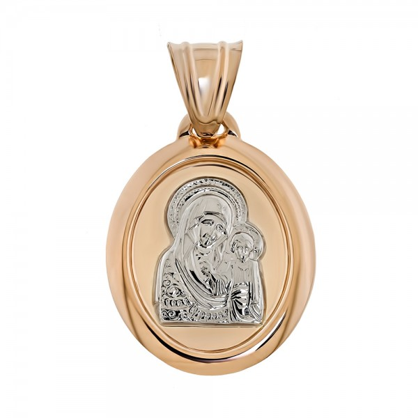 Ладанка золотая Казанская Божья Матерь 120836