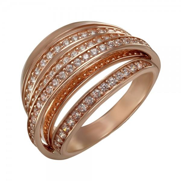 Кольцо золотое с фианитами 350010