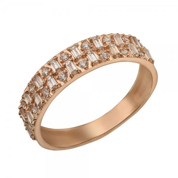 Кольцо золотое с фианитами 380564