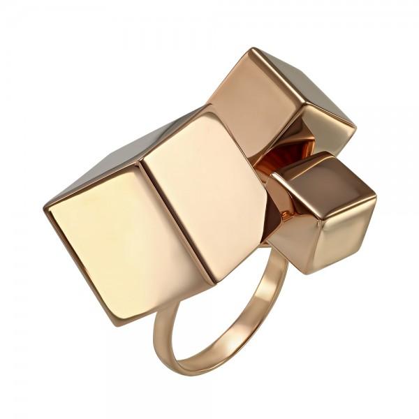 Кольцо золотое Кубы 391116
