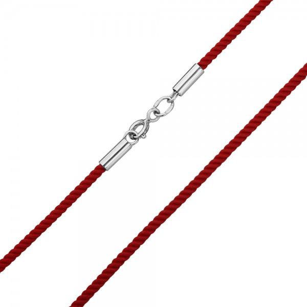 Ювелирный шнурок с серебряной застежкой 950094С