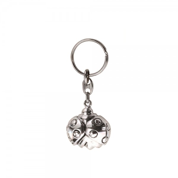 Брелок серебряный Божья коровка 18031