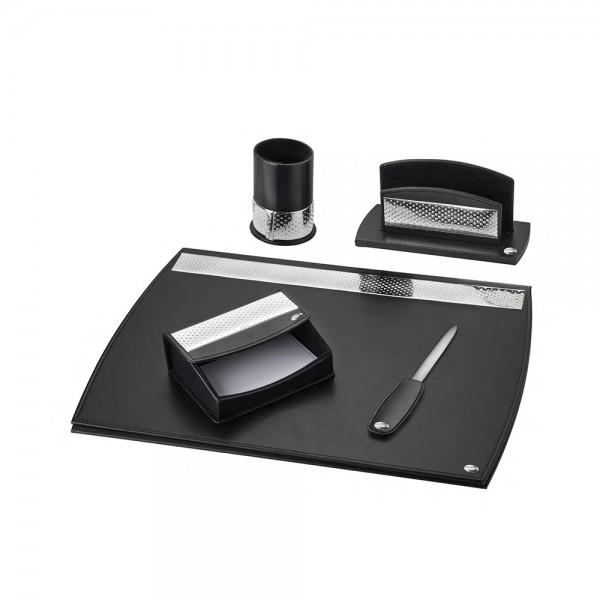 Набор офисный с 5 предметов с серебряными вставками 3196