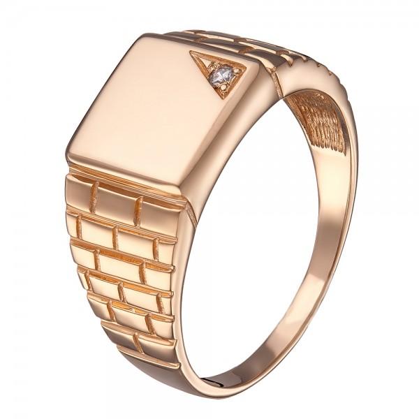 Кольцо золотое с фианитом 11302901