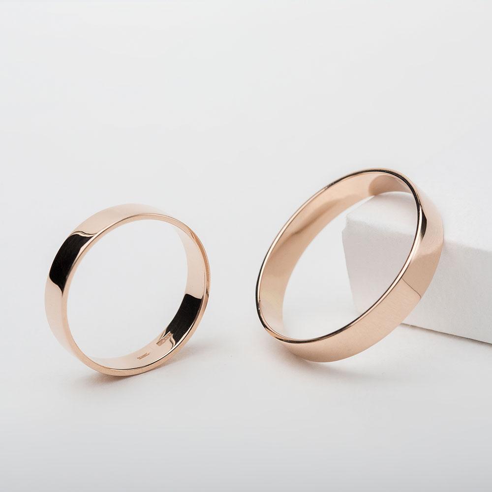 Обручальное кольцо золотое Американка  1ОА101