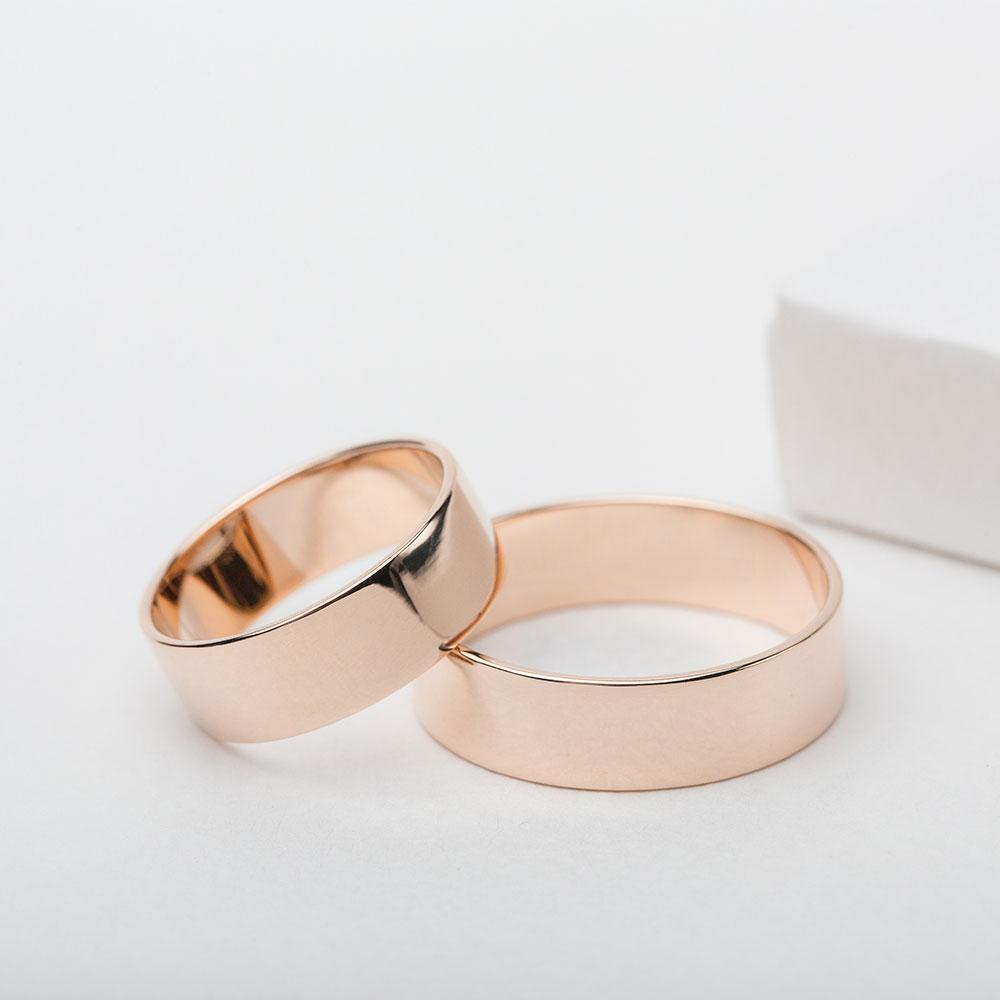 Обручальное кольцо золотое Американка 1ОА102
