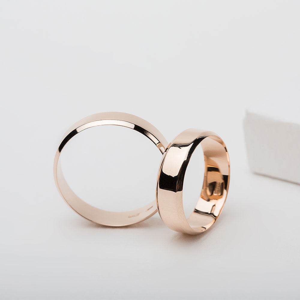 Обручальное кольцо золотое Американка 1ОА102з