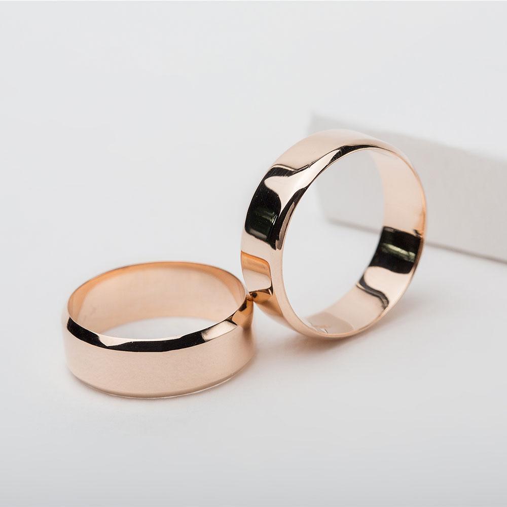 Обручальное кольцо золотое Американка 1ОА103з