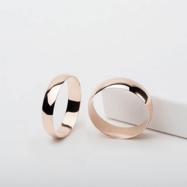 Обручальное кольцо золотое классическое 1ОК002