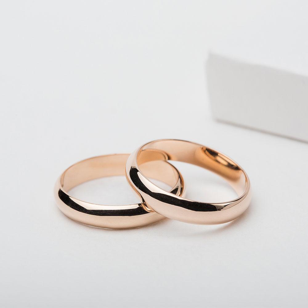 Обручальное кольцо золотое классическое 1ОК025