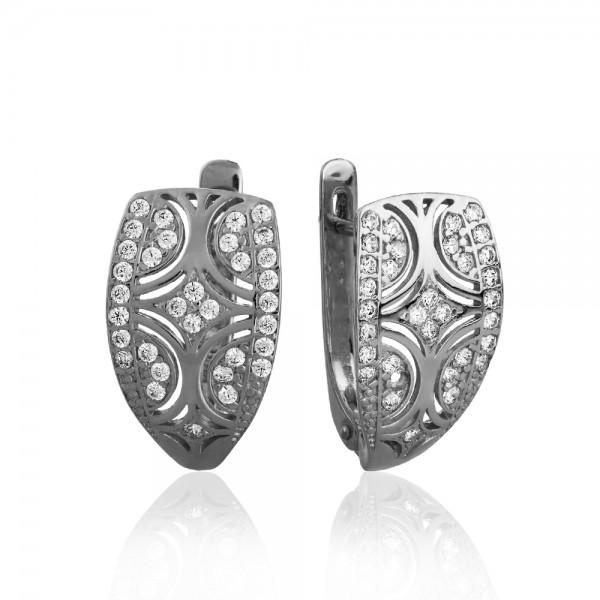 Серьги серебряные с фианитами 2СВ1591