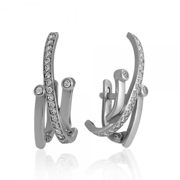 Серьги серебряные с фианитами 2СВ1790