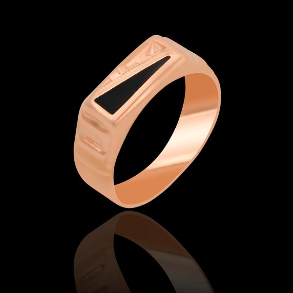 Перстень золотой с эмалью 1_18045